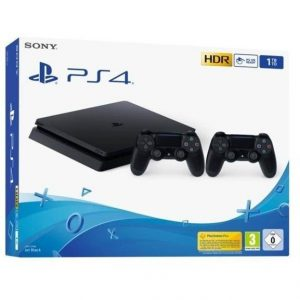 Console Slim 1TB + Dualshock 4 Controller PS4