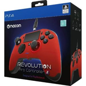 يد ناكون برو كنترولر 2 ريفوليوشن أحمر PS4