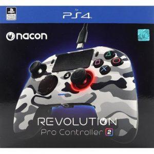 يد ناكون برو كنترولر 2 ريفوليوشن جيشي رمادي PS4