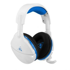 turtle beach stealth 600 wireless gaming headset – white & blue PS4