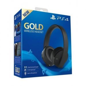 Gold Wireless Headset Stereo- Black PS4
