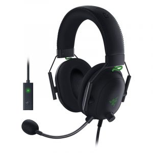 Razer BlackShark V2 Gaming Headset + USB Mic Enhancer RZ04
